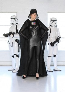 Ashley Eckstein in a Darth Vader design by Doug Dunnam