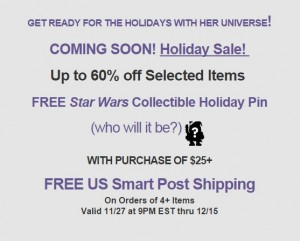 Upcoming sale at Her Universe