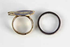 W. Berrie - size comparison with wedding ring
