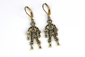 Vintage 1997 C-3PO earrings (altered)