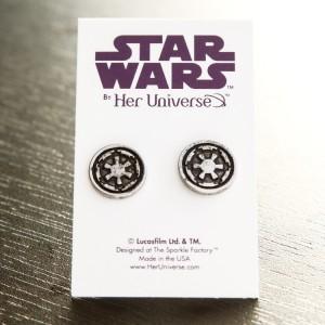 Her Universe - Imperial symbol stud earrings