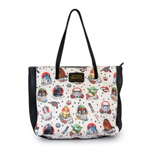 Loungefly - tattoo flash print faux leather tote bag