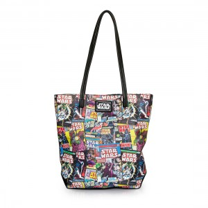 Loungefly - color comic print faux leather tote bag