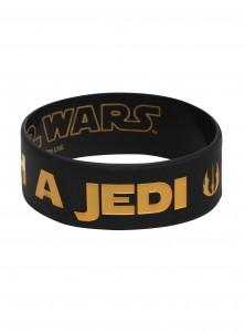 Hot Topic - Trust Me I'm A Jedi Rubber Bracelet