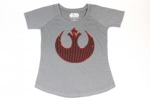 Her Universe - sequin Rebel Alliance logo tee