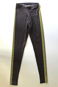 Gold Bubble Clothing - yellow/brown bloodstripe leggings