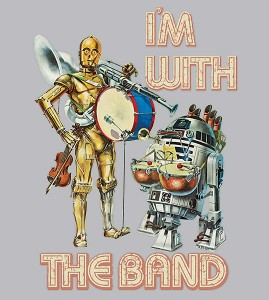 Thinkgeek - Droid Band ladies tee (print image)