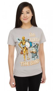Thinkgeek - Droid Band ladies tee