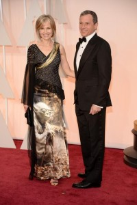 Willow Bay wearing Rodarte's 'Yoda' gown at the 2014 Oscars