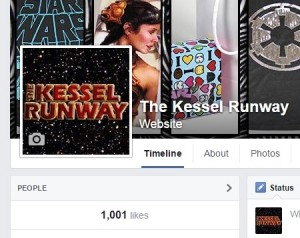 The Kessel Runway passed 1,000 likes on Facebook