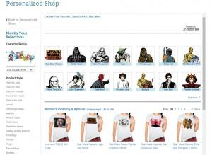 Disney Store - Star Wars customizable t-shirts