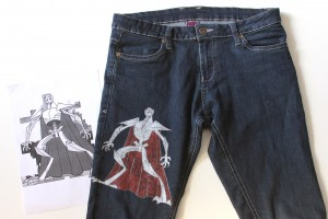 DIY - General Grievous hand painted jeans
