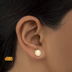 Body Vibe - gold plated Jedi Order symbol earrings