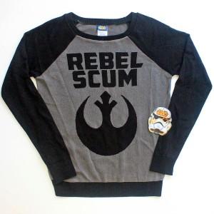 We Love Fine X Goldie - Rebel Scum sweater (front)