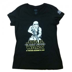 Disney - women's The Force Awakens black t-shirt
