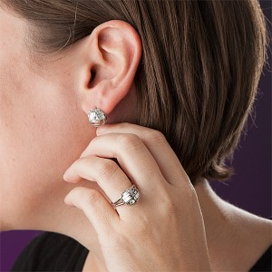 Thinkgeek - Death Star stud earrings and ring