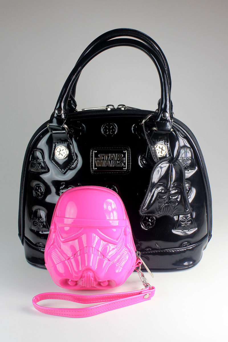 Loungefly - size comparison of coin purse and mini dome bag