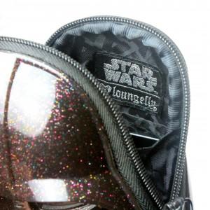 Loungefly - glitter Darth Vader coin purse (interior/detail)