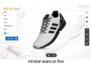 Adidas -- women's mi Star Wars ZX Flux footwear