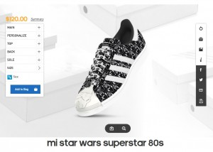 Adidas -- women's mi Star Wars Superstar 80's footwear