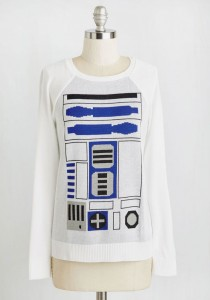 ModCloth - women's 'R2-D2 Of A Kind' sweater (front)