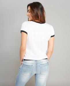 Wet Seal - women's Star Wars logo ringer t-shirt (back)