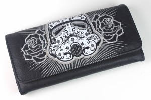 Loungefly - sugar skull stormtrooper wallet (front)