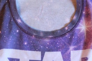 Next - size 14 girl's Star Wars logo crew top (front detail)