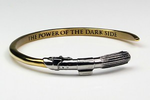 Han Cholo - Vader Saber cuff (inner band/blade text detail and outer band/hilt detail)
