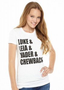 Delia's - women's Luke/Leia/Vader/Chewbacca t-shirt