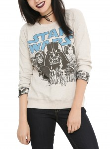 Hot Topic - women's long sleeve reversible pullover top (front)