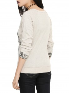 Hot Topic - women's long sleeve reversible pullover top (back)