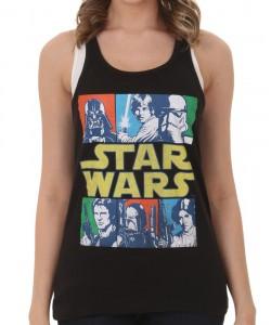Shirts.com - women's Vader Saber racer back tank top