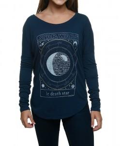 Shirts.com - women's Le Death Star long sleeved t-shirt