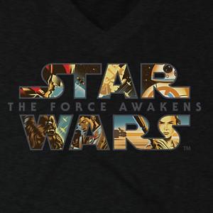Disney Store - women's The Force Awakens t-shirt (front/detail)