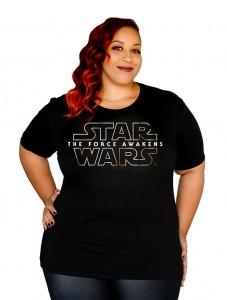 Her Universe - The Force Awakens logo plus size t-shirt