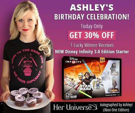Her Universe - Ashley's Birthday sale - 30% off