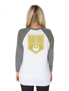 Her Universe - Rey Resistance baseball raglan top (back)
