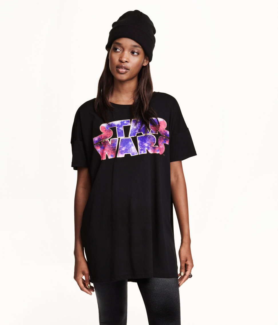 new longline star wars logo t-shirt - the kessel runway