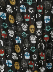 Hot Topic - women's Star Wars Icons Print oblong scarf by Loungefly (detail)