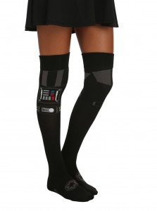 Hot Topic - women's over-the-knee Darth Vader socks