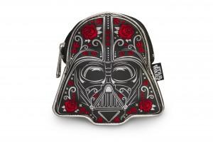 Loungefly - floral sugar skull Darth Vader coin purse