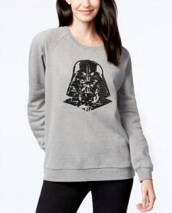 Macy's - women's sequin Darth Vader sweatshirt by Freeze 24-7