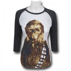 SuperHeroSuff - women's Chewbacca raglan 3/4 sleeve top