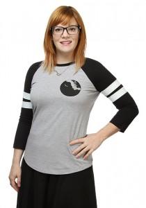 Thinkgeek - women's Death Star raglan t-shirt