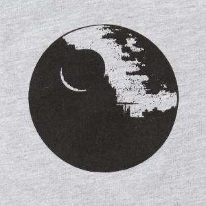 Thinkgeek - women's Death Star raglan t-shirt (detail)