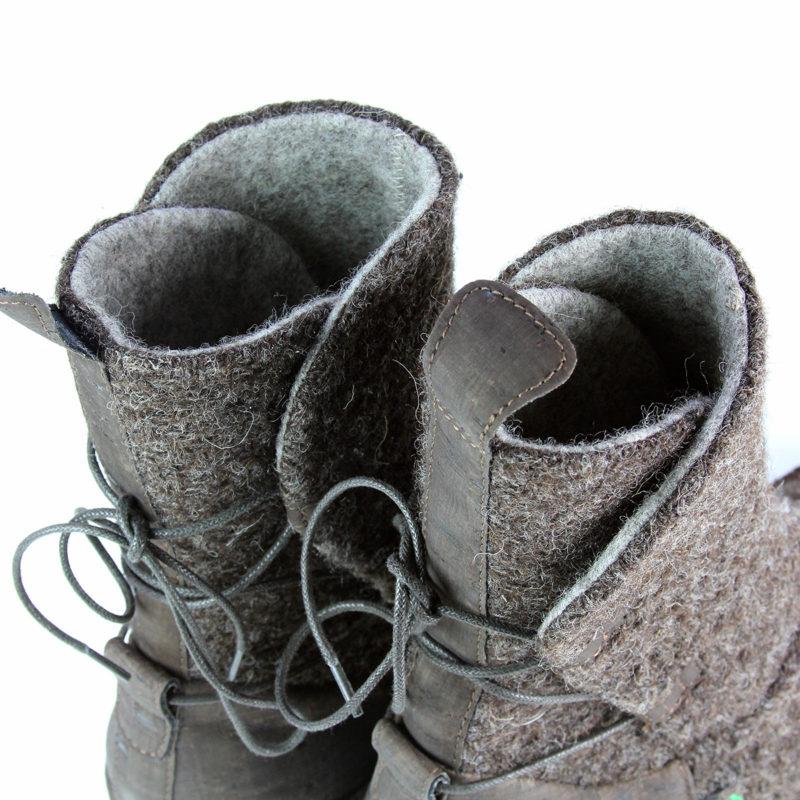 Po-Zu - Piper V Dark Brown shoes (detail)