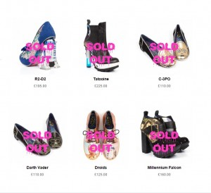Irregular Choice x Star Wars collection - many styles are now sold out