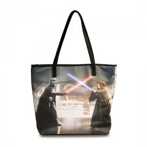 Loungefly - Darth Vader vs Obi-Wan Kenobi photo real tote bag (front)