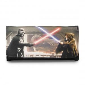 Loungefly - Darth Vader vs Obi-Wan Kenobi photo real wallet (front)